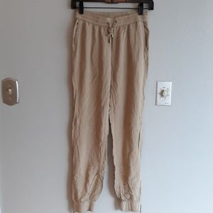 Michael Kors Khaki lightweight joggers with zipper